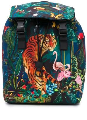 Dolce & Gabbana Tropical Print Backpack