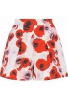 Nicholas Pleated Floral-Print Cotton-Canvas Shorts