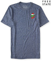 Aeropostale Mens Free State Alien Santa Graphic T Shirt Blue
