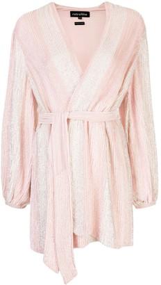 retrofete Sequin Mini Wrap Dress