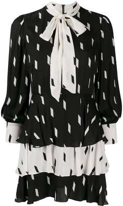 Alice + Olivia Dasha tiered chiffon mini dress