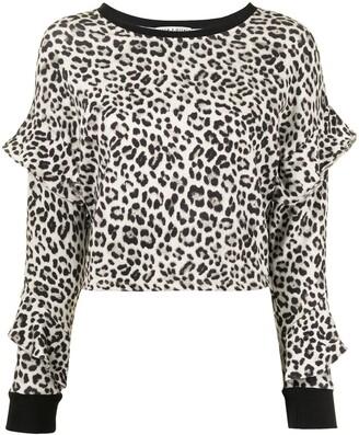 Alice + Olivia Leopard Print Sweatshirt