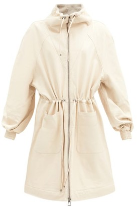 Dodo Bar Or Piki Shearling-lined Leather Coat - Cream