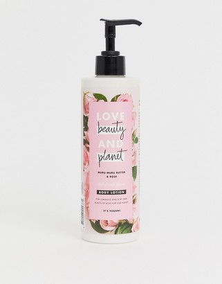 Butter Shoes Love Beauty and Planet Delicious Glow Muru Muru & Rose Body Lotion 400ml