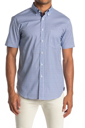 Construct Geo Print Short Sleeve Slim Fit Sport Shirt