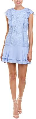Parker Bennett Silk-Trim Shift Dress