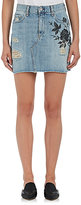 Rag & Bone Women's Dive Floral-Embroidered Denim Miniskirt