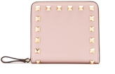 Valentino Rockstud Compact leather wallet