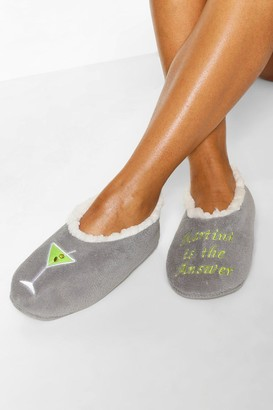 boohoo Martini Slipper Socks