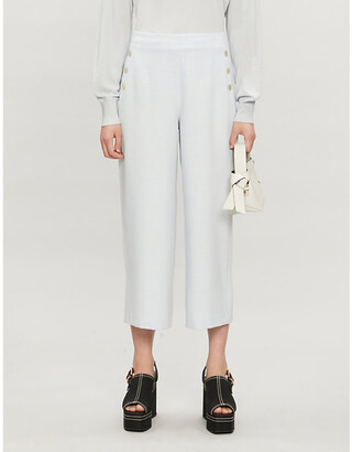 Ted Baker Peliatt wide-leg high-rise stretch-woven culottes