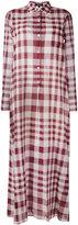 Theory plaid maxi shirt dress - women - Cotton - 4