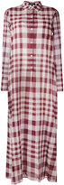 Theory plaid maxi shirt dress