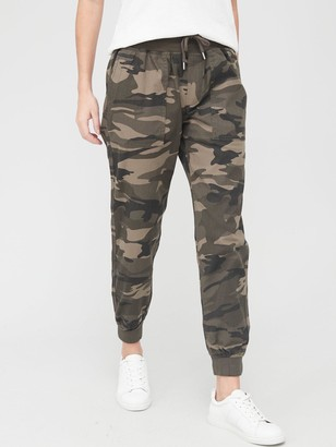 Very Knit Trim Cotton Jogger Trouser- Camo