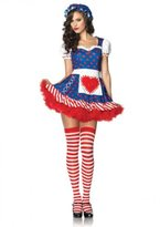 Leg Avenue Women's 2 Piece Darling Dollie Rag Doll Costume