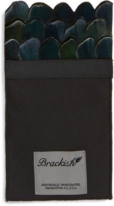 Brackish & Bell Granite Feather Pocket Square