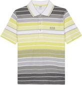 Boss Striped Piqué Cotton Polo Shirt 4-16 Years