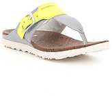 Merrell Around Town Post Print Leather Color Block Buckle Detail Sandals
