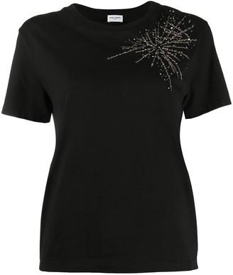 Saint Laurent starburst-embellished T-shirt