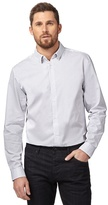 J By Jasper Conran Big And Tall Grey Striped Shirt