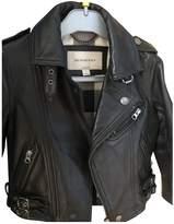 Burberry Black Leather Jackets & Coats