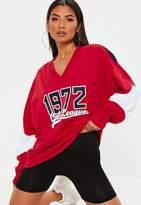 Missguided Red 1972 Sweatshirt