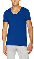 Hanro Men's Cotton Superior/ V-Shirt 1/2 Arm Vest
