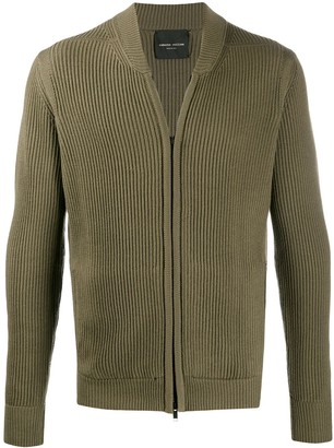 Roberto Collina Ribbed-Knit Zip-Up Cardigan