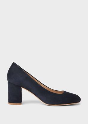 Hobbs Lucy Wide Fit Suede Block Heel Court Shoes