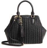 Celine Dion Medley Braided Leather Satchel - Black