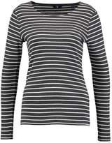 Gant STRIPE Long sleeved top antracit melange