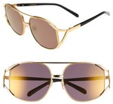 Wildfox Couture Women's 'Dynasty Deluxe' 59Mm Retro Sunglasses - Gold Tortoise/ Gold Mirror