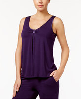 Alfani Satin-Trim Pajama Tank, Only at Macy's