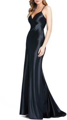 Mac Duggal Corseted Satin Gown