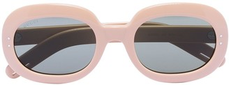 Gucci Oval Frame Tinted Sunglasses