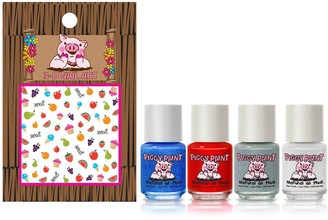 Piggy Paint U.S. of YAY! Set of 4 Nail Polish with Nail Art