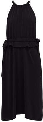 Proenza Schouler White Label Drawstring Halterneck Midi Dress - Womens - Black