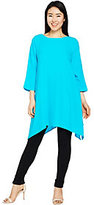 As Is Linea by Louis Dell'Olio Pebble Crepe Boatneck Tunic
