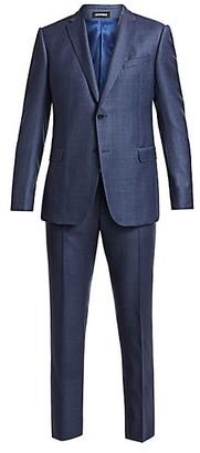 Emporio Armani Tonal Plaid Double-Faced Virgin Wool Suit