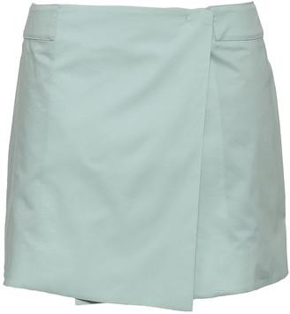 Joseph Zip-detailed Cotton-poplin Mini Wrap Skirt
