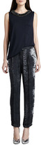 Haute Hippie Snake-Print Trousers