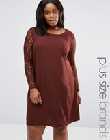 Junarose Plus Clarissa Dress With Lace Sleeves