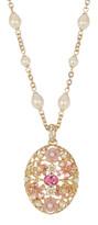 Carolee Floral Pendant Necklace