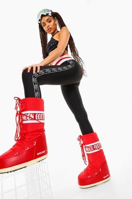 boohoo Woman Branded Base Layer Ski Legging