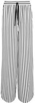 McQ by Alexander McQueen Japan Striped Twill Wide-leg Pants - White