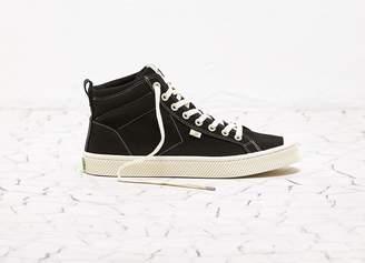 Cariuma OCA High Washed Black Canvas Contrast Thread Sneaker Women