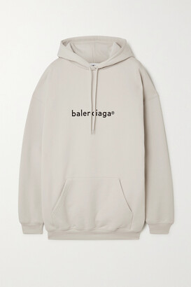 Balenciaga - Oversized Printed Cotton-jersey Hoodie - White