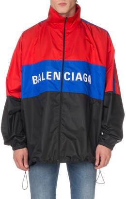 Balenciaga Men's Colorblock Track Jacket
