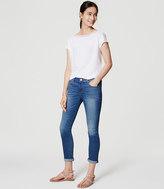 LOFT Skinny Crop Jeans in Medium Stone Wash