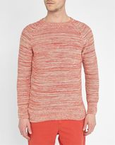 M.STUDIO Red Victor Multicolour Cotton Round-Neck Sweater