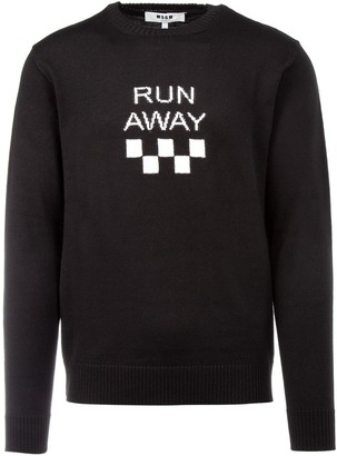 MSGM Run Away Crewneck Pullover